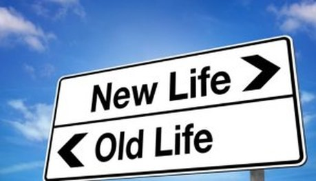 Sign that says New Life and Old Life